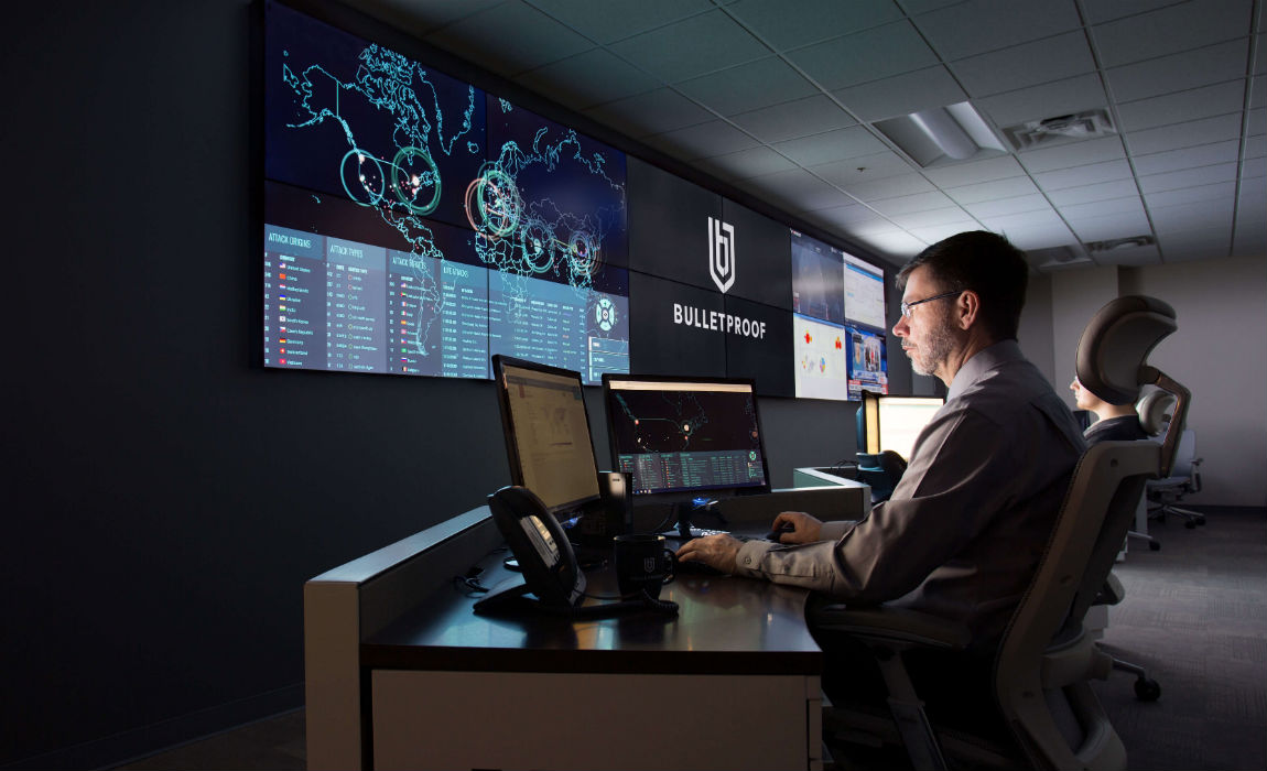 Bulletproof's $1.5M state-of-the-art Security Operating Centre (SOC).  It's a 3,500 sq ft custom-built facility to provide our managed enterprise-level cybersecurity monitoring and incident response services